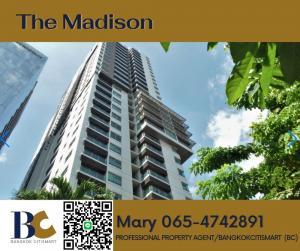 For SaleCondoSukhumvit, Asoke, Thonglor : 🔥ด่วน!! ถูกสุดในตึก🔥The Madison 3 bedrooms / High Floor/ 27 Million /178k per sqm. 【065-4742891】