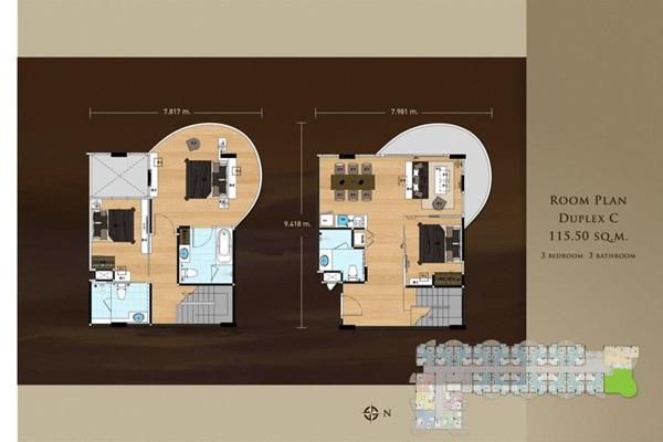 ขายคอนโดพัทยา บางแสน ชลบุรี : (เจ้าของขายเอง**) คอนโดซันไรซ่า ศรีราชา (3 ห้องนอน Duplex) คอนโดติดทะเล!!