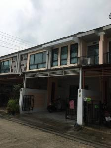 For RentTownhouseOnnut, Udomsuk : 2-storey townhouse for rent, Time Home Village, On Nut 40, near BTS On Nut / Bang Chak, rental price 20,000 baht.