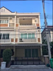 For RentTownhouseOnnut, Udomsuk : LBH0224 3-storey townhome for rent, The Exclusive Village, On Nut 74.