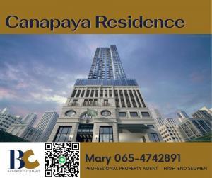 For SaleCondoRama3 (Riverside),Satupadit : Canapaya Residences 3 bedrooms / River View / High Floor >> 33.9 Millions**065-4742891**