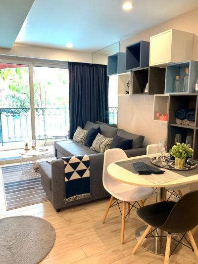 For RentCondoPattaya, Bangsaen, Chonburi : 0463-A😊 For RENT ให้เช่า 1 ห้องนอน🚄ใกล้ ชายหาดจอมเทียน🏢เซเว่นซี คอนโด รีสอร์ท จอมเทียน Seven Seas Condo Resort Jomtien🔔พื้นที่:37.00ตร.ม.💲เช่า:39,000฿📞O99-5919653,O86-454O477✅LineID:@sureresidence