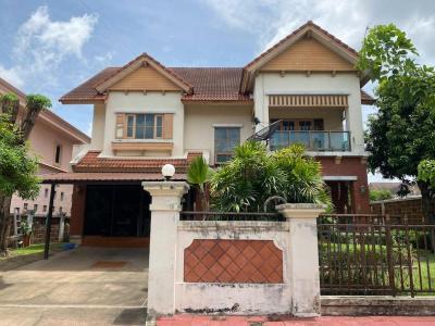 For SaleHouseBangbuathong, Sainoi : House for sale, 2 floors, 3 bedrooms, 122.7 sq.wa., Phruekpirom Regent Village, Pinklao - Kanchanaphisek Ring Road.