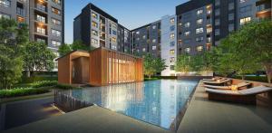 For RentCondoEakachai, Bang Bon : For rent, Present Condo Ekachai 32, 7th floor, Building B, near BTS Wutthakat with washing machine in the room.