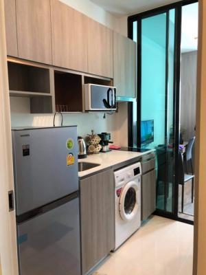 For RentCondoRamkhamhaeng, Hua Mak : 14fl. Knightbridge Ramkhamhaeng 23 sqm. Fully furnished tel.080-535-9794 for rent 9500฿