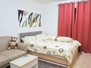 For RentCondoOnnut, Udomsuk : Condo for rent Elio Del Ray,💥fully furnished, good price💥,on Sukhumvit 64 road, near BTS Punnawithi, BTS Bang Chak, with a shuttle, convenient to travel.Size 24.22 sq.m., 2nd floor, Building E💰 Rental price: 6,000 baht / month