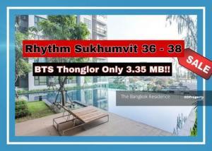 For SaleCondoSukhumvit, Asoke, Thonglor : *Rhythm Sukhumvit 36-38 Sell with tenant ,pool view the best price undermarket 25%+!!!