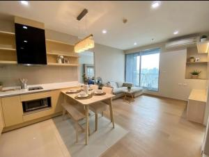 For RentCondoOnnut, Udomsuk : Rhythm Sukhumvit 50 Condo for rent - 2 bedrooms, 2 bathrooms, 1 - 65 sqm, 29th floor, river and city view, beautifully decorated, minimal style, best location, next to Lotus, opposite century, walk to BTS