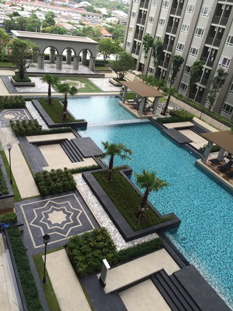For SaleCondoRattanathibet, Sanambinna : Manor Condo, Sanam Bin Nam, next to the Ministry of Commerce, size 26.17 sq.m., swimming pool view