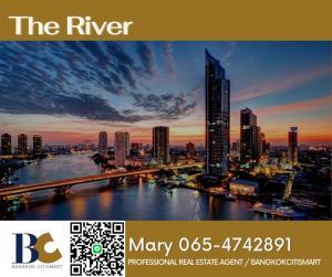 For RentCondoWongwianyai, Charoennakor : ⭐The river ⭐For Rent 2 Bedrooms / 47,000 B 【065-4742901】