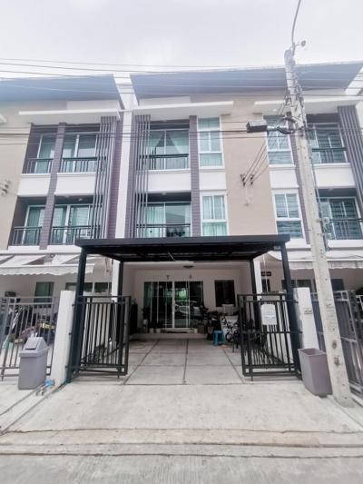 For SaleTownhouseChokchai 4, Ladprao 71, Ladprao 48, : H547-Townhome for sale, 3 floors, Baan Klang Muang, Chokchai 4 Soi 50 (empty house)