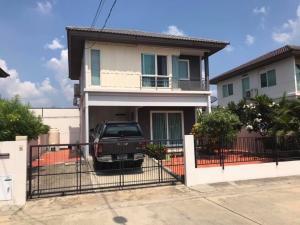 For RentHouseLadkrabang, Suwannaphum Airport : House for rent, Prueklada Suvarnabhumi, Lat Krabang 54 (3 bedrooms, 2 bathrooms, 50 sq m. Fully furnished, air conditioners ✅25,000/month✅