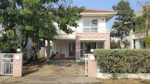 For RentHouseRattanathibet, Sanambinna : House for rent near Bang Phlu MRT, Home Place Rattanathibet Village Project ** Pets allowed **