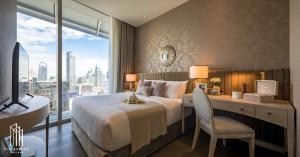 For RentCondoWitthayu,Ploenchit  ,Langsuan : Condo for RENT *Magnolias Ratchadamri Boulevard ชั้นสูง วิว Grand Hyatt แต่งสวย เฟอร์ครบ พร้อมอยู่ @47,000 Baht