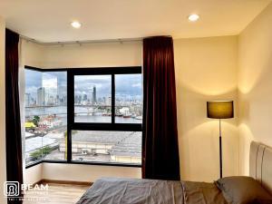 For RentCondoWongwianyai, Charoennakor : TN011_W 💖 THE NICHE MONO CHROENNAKHORN 😍 2 bedrooms, 2 bathrooms, Mae Nam view, price is only 29,000 baht.
