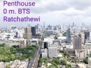 For SaleCondoRatchathewi,Phayathai : ⭐⭐⭐Penthouse 121 ตรม.+ระเบียงใหญ่พิเศษต่างหาก วิวสยามพารากอน