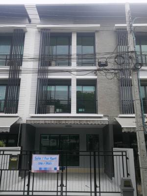 For RentTownhouseRamkhamhaeng, Hua Mak : Townhome for rent Baan Klang Muang Rama 9-Ramkhamhaeng, garden view, newly renovated