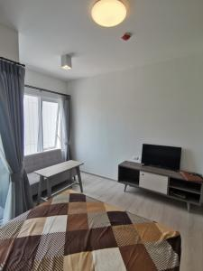 For RentCondoRatchadapisek, Huaikwang, Suttisan : Urgent for rent Condo Chapter one eco Ratchada-Huay Kwang Studio 23 sqm, 18th floor, Building C