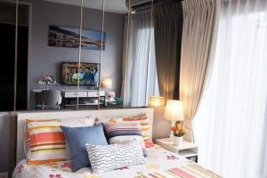For RentCondoBang Sue, Wong Sawang : Condo for rent Chapter One Shine Bangpo,💥south balcony River bend view from the room💥Floor Good Feng Shui, very beautiful decoration, near MRT Bang PhoSize 23 sq.m., 27th floor💰 Rental price: 8,000 baht / month