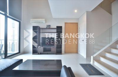 For RentCondoRama9, RCA, Petchaburi : Rent Villa Asok 1 bedroom (Duplex) 81 Sq.m. fully furnished ready to move in 30K 81 Sq.m. 1 bedroom 2 bathroom Full furnished  091-778-2888