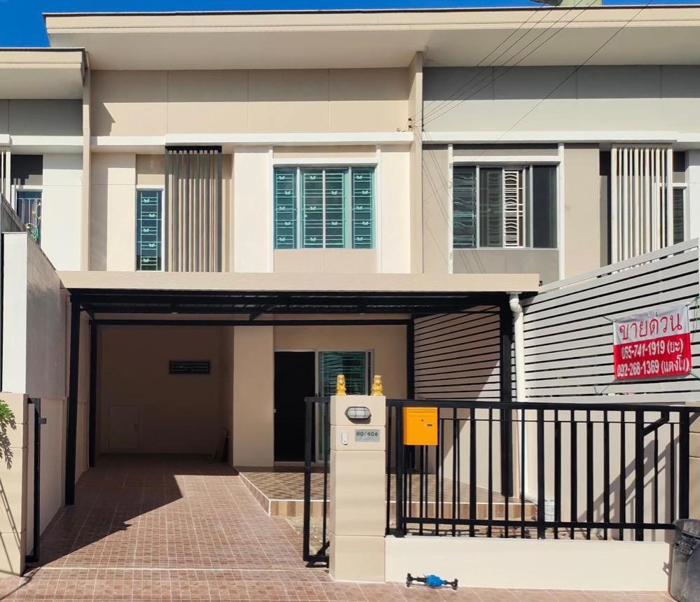 ขายทาวน์เฮ้าส์/ทาวน์โฮมนครปฐม พุทธมณฑล ศาลายา : ขาย ทาวน์โฮม 2ชั้น หมู่บ้าน พฤกษาวิลล์ 77 ติดถนนใหญ่ พุทธมณฑล สาย4 ถูกสุดในโครงการ 3ห้องนอน 2ห้องน้ำ