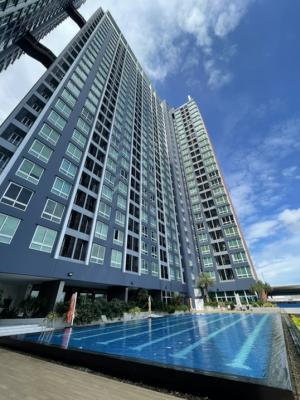 เช่าคอนโดสำโรง สมุทรปราการ : 🏢 Condo The Metropolis 🏢 ห้องใหม่มาก!!1Br 35 sq.m. วิวสระ + วิว BTS