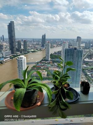 เช่าคอนโดวงเวียนใหญ่ เจริญนคร : 🔥🔥 Hot deal : for rent The RIVER Condo 3 beds 3 baths with 134 SQM.Only 85,000 Baht/month