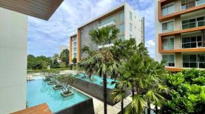 For SaleCondoHua Hin, Prachuap Khiri Khan, Pran Buri : Condominium for sale , Walking distant to the beach.