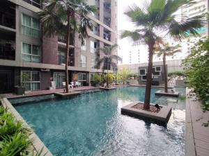 เช่าคอนโดพระราม 9 เพชรบุรีตัดใหม่ : ห้องชั้น 1 ติดสระว่ายน้ำ!! ให้เช่าคอนโด เอ สเปซ อโศก-รัชดา ตึก Z ขนาด 42 ตรม.