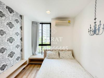 For RentCondoRatchadapisek, Huaikwang, Suttisan : IDEO Ratchada – Huaykwang for rent Hot price 11,000 THB 1 bed 1 bath 35 sq.m Conner room FL.5 the Garden view K.Bee 064146-6445 (R5687)
