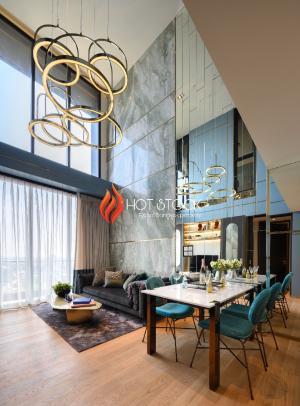 ขายคอนโดสุขุมวิท อโศก ทองหล่อ : Last Unit❗ ราคาพิเศษ junior penthouse 103 ตร.ม เพดานสูง 5.6เมตร ห้องสวย ชั้นสูงวิวสวยเห็นโค้งบางกระเจ้า