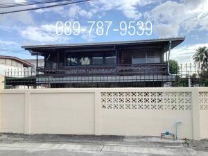 For RentHouseRamkhamhaeng, Hua Mak : Detached house for rent,  Seri Village Project 1, size 101 square wah, corner unit , near Ramkhamhaeng University