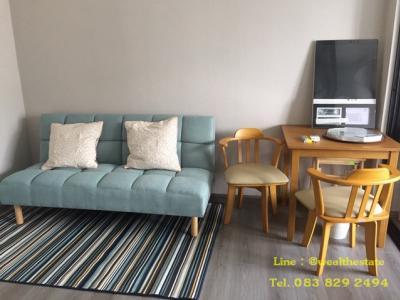 For RentCondoRattanathibet, Sanambinna : For rent  The Politan Rive Condo, 30 sq.m.