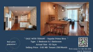 For SaleCondoRama3 (Riverside),Satupadit : 🔥ขายพร้อมผู้เช่าด่วน !🔥 ห้องสวย วิวเมือง+บางกระเจ้า 1Bedroom/63 Sq.m. Pls. Contact Miss Noon Call 064 554 2655