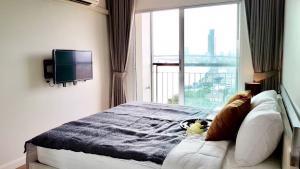 เช่าคอนโดพระราม 3 สาธุประดิษฐ์ : For rent ❤️Lumpini riverside Rama 3ห้องมุมไม่ติดใคร