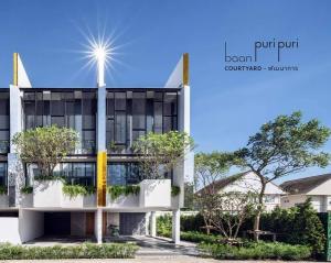 Sale DownTownhousePattanakan, Srinakarin : Baan puripuri courtyard pattanakarn Soi Phatthanakan 32 House for sale Type M 3 bedrooms 4 bathrooms 4 parking