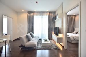 เช่าคอนโดพระราม 9 เพชรบุรีตัดใหม่ : 2ห้องนอนเเต่งสวย!!  Q Asoke @26,000 บาท/เดือน - ราคาดีมาก ชั้น 30+ เช่าคอนโดติด MRT เพชรบุรี