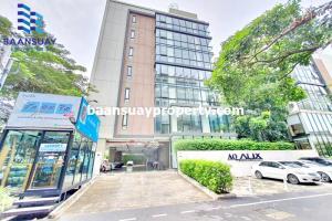 เช่าคอนโดพระราม 9 เพชรบุรีตัดใหม่ RCA : ให้เช่า คอนโด AQ Alix Residence Soonvijai  ชั้น 2 ใกล้ โรงพยาบาลกรุงเทพ