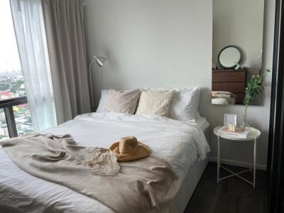 เช่าคอนโดบางซื่อ วงศ์สว่าง เตาปูน : แต่งห้องใหม่ !! ห้องสวย ชั้นสูง อยู่สบาย modern minimal  style  The Stage Taopoon Interchange 26 ตรม