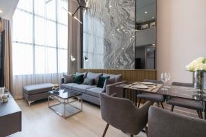 ขายคอนโดสาทร นราธิวาส : ขายคอนโด Duplex 2ห้องนอน ชั้นสูง วิวสวย แต่งสวย Smart homeทั้งห้อง