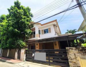 For SaleHouseChengwatana, Muangthong : Single house for sale, second hand house, luxury design, modern, ready to move in, Saransiri Ratchaphruek - Chaengwattana