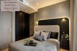 For RentCondoRama9, RCA, Petchaburi : Beautiful room Ashton Asoke-Rama 9, new room, never moved in, very beautiful decoration, furniture + electrical appliances