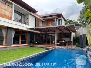 For RentHouseSukhumvit, Asoke, Thonglor : For Rent detached house Sukhumvit71 Soi Pridi Banomyong nice decorated
