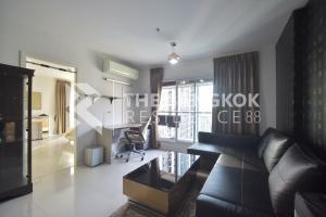 ขายคอนโดพระราม 9 เพชรบุรีตัดใหม่ : (For Sale) Aspire Rama 9 @6,250,000 Baht (93,650 Baht/Sqm) 66.77 Sqm 2 Bed 2 Bath Fully furnished, Good view, High floor Call 083-882-4256 Big