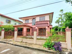 ขายบ้านนครปฐม พุทธมณฑล ศาลายา : บ้านเดี่ยว หลังมุม 62.8 ตร.ว. หมู่บ้านปาริชาต ปิ่นเกล้า-พุทธมณฑลสาย 4 สภาพดีพร้อมอยู่