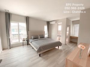 For RentHouseBangna, Bearing, Lasalle : ** 2 Bedrooms Semi-Detached House Scandinavian-Muji Style for Rent ** Anya Bangna-Ramkhamhaeng2 Near Mega Bangna