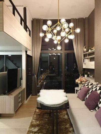 เช่าคอนโดพระราม 9 เพชรบุรีตัดใหม่ : ให้เช่าคอนโดพร้อมอยู่ ห้อง Duplex ขนาด 1ห้องนอน Chewathai Residence อโศก