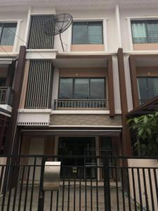 For RentHouseOnnut, Udomsuk : Town home for rent, 3-storey town home for rent  The Private Village, Sukhumvit 77, Soi On Nut 36 *** with furniture.