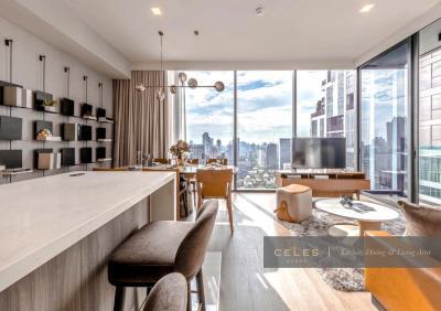 For SaleCondoSukhumvit, Asoke, Thonglor : [For Sale] Condo High-End, Good Location, Beautiful View, near BTS & MRT Celes Asoke, 105.77 Sq.m