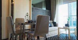 For RentCondoRatchadapisek, Huaikwang, Suttisan : Noble revolve Ratchada 2 for rent, 2 bedrooms, 1 bathroom, size 39 sqm., 14th floor, very cheap
